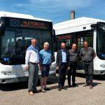 Levering elektrische autobussen Ebusco