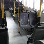 Elektrische autobus binnenkant