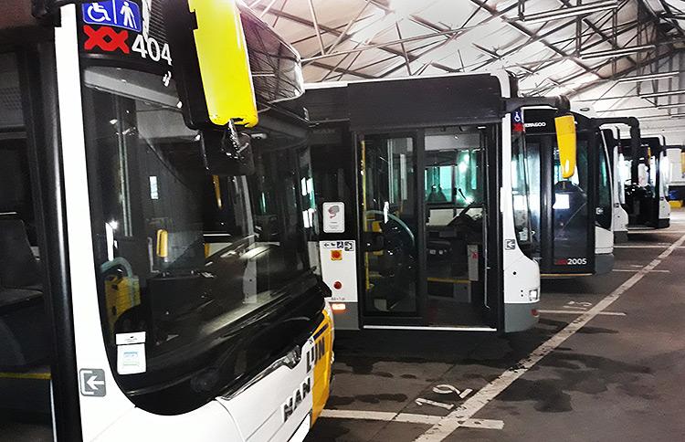 Stelplaats Boutersem lijnbussen