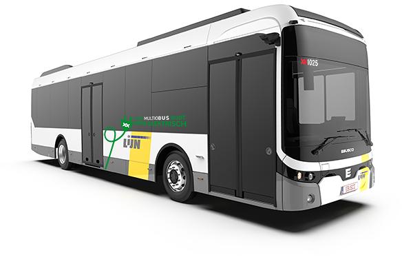 100% elektrische lijnbus van Multiobus